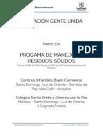 Programa de Manejo de Residuos Sólidos CI y Colegios