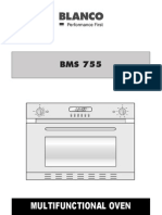Blanco Wall Oven BMS755