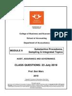 Module 9 - Substantive Proc - Class Q - 23 July
