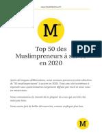 Les 50 muslimpreneurs à suivre en 2020 - GoogleDocs
