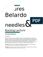 Suture and Needles Nursing Lecture 1