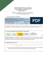 Guía de actividades y rúbrica de evaluación Reto 3 Aprendizaje Unadista