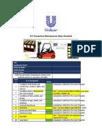 FLT Preventive Maintenance Daily Checklist- UPL