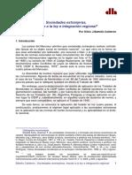 Sociedades Extranjeras, Fraude a La Ley e Integración Regional