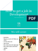 How to get a job in Development