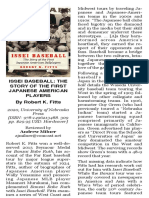Issei Baseball book review