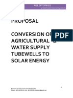 PROPOSAL Solar Tubewell