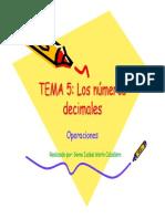 Tema 5. Operaciones con números decimales
