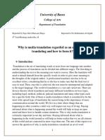 Media translation report by سجى عبد الجسين شايع شمخي