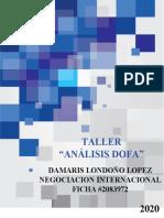 TALLER ANÁLISIS DOFA