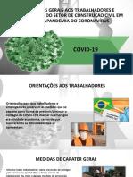 CONSTRUÇÃO CIVIL COVID-19