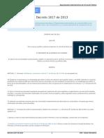 Decreto 1617 de 2013