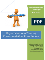 Buying Behaviour of Shaving Creams and After Shave Lotions