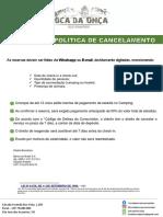 POLÍTICA DE RESERVA - TOCA DA ONÇA
