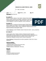 PROGRAMA PREVIOS-LIBRES LITERATURA 5°AÑO BLANCA DIAZ