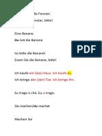 Akkusativpronomen-Übungen von imperativ