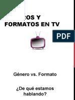 GENERO Y FORMATOS PARA TELEVISION