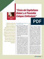 Crisis del capitalismo global y el previsible colapso civilizatorio