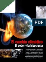 El cambio climatico el poder y la hipocresia