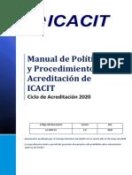 Manual de políticas y procedimientos de acreditación
