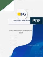Guía 1, Unidad 3, Regresión Lineal (Estadística)