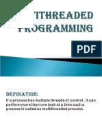 Multi Thread Programming
