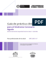 16.GPC SINDROME CORONARIO AGUDA Adopt. Resol. Institu. 1167 de 2014
