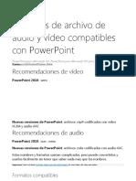 archivo de audio y vídeo compatibles con PowerPoint