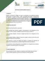 PROTOCOLO DE BIOSEGURIDAD SINAHIS