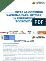 PROPUESTA AL GOBIERNO NACIONAL PARA MITIGAR LA EMERGENCIA ECONOMICA