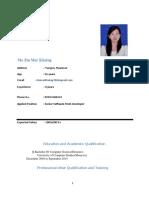 ASP.Net Developer Zin_Mar_Khaing_CV
