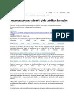 3 Lectura-Microempresas-SOLO 16 % PIDE CRÉDITOS FORMALES