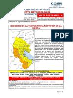 BOLETIN SIREDECI Nº 104 del 2020 DESCENSO DE LA TEMPERATURA NOCTURNA