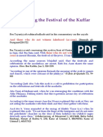 Festivals of Kuffar