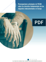 Derechos Humanos de las Personas Indocumentadas en la UE- Informe PICUM 2010