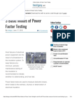 Basic Modes of Power Factor Testing