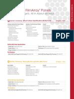 Biofire FilmArray Full Panel Menu Info Sheet