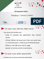 WorkShop 2 - Activity&Intent