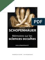 Mémoires Sur Les Sciences Occultes - Arthur Schopenhauer