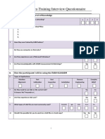 SCANARM Customer Pre-training Questionnaire