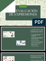 Evaluacion de expresiones sergio 2