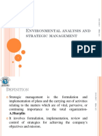 3. Environmental analysis and strategic management