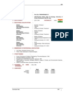 Prof.Thrivikramji K.P.- CV of