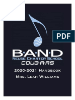 Band Handbook 2020-2021