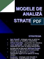 curs 5 Modele de analiza strategica