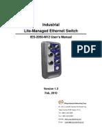 User Manual IES-2050-M12 V1.3