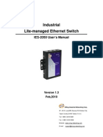 User Manual IES-2050 V1.3