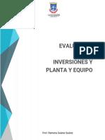 EVALUACION TEORICA-PRACTICA SOBRE INVERSIONES Y PLANTA Y  EQUIPO2020-1