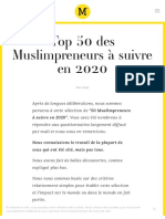 ► Top 50 des Muslimpreneurs à suivre en 2020 — Muslimpreneur™️