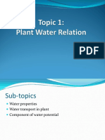 TOPIC 1- PLANT WATER RELATIONS
